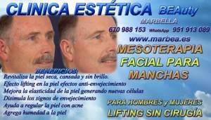CLINICA ESTETICA MARBELLA MESOTERAPIA FACIAL PARA HOMBRES