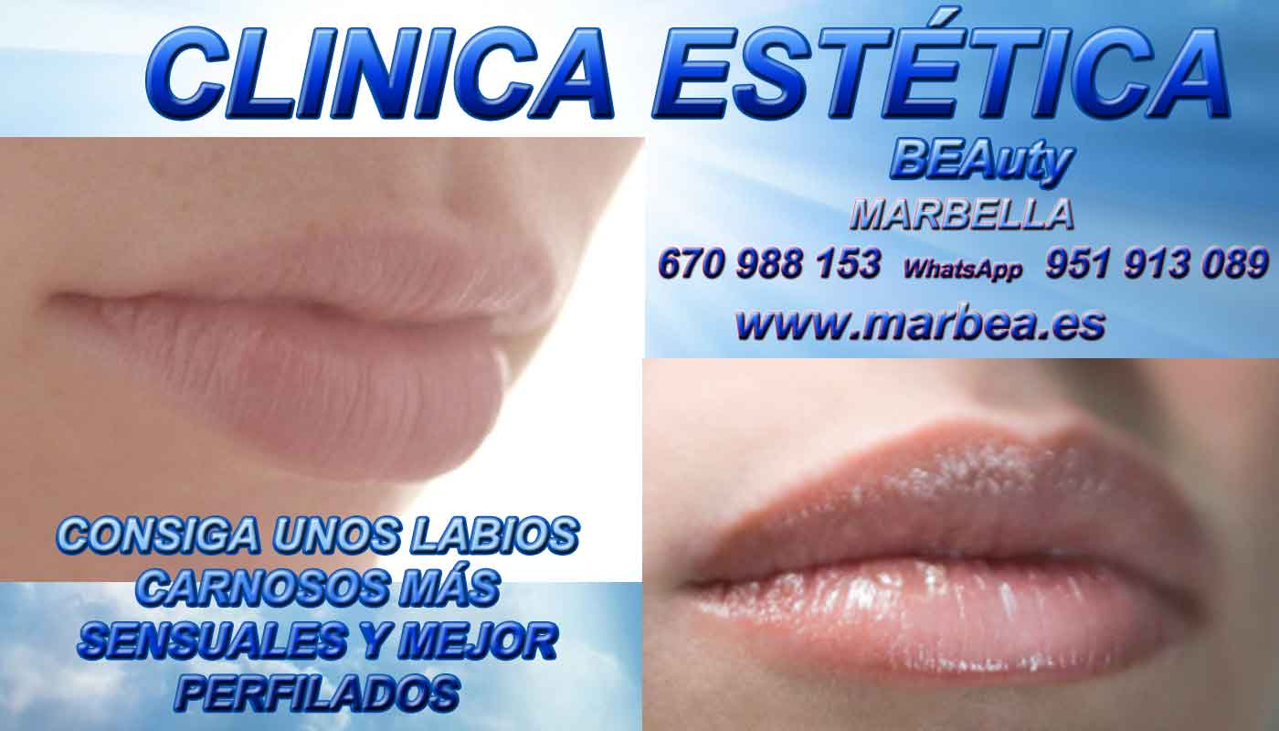 eliminar para eliminar surcos nasogenianos aumento de labios Melilla