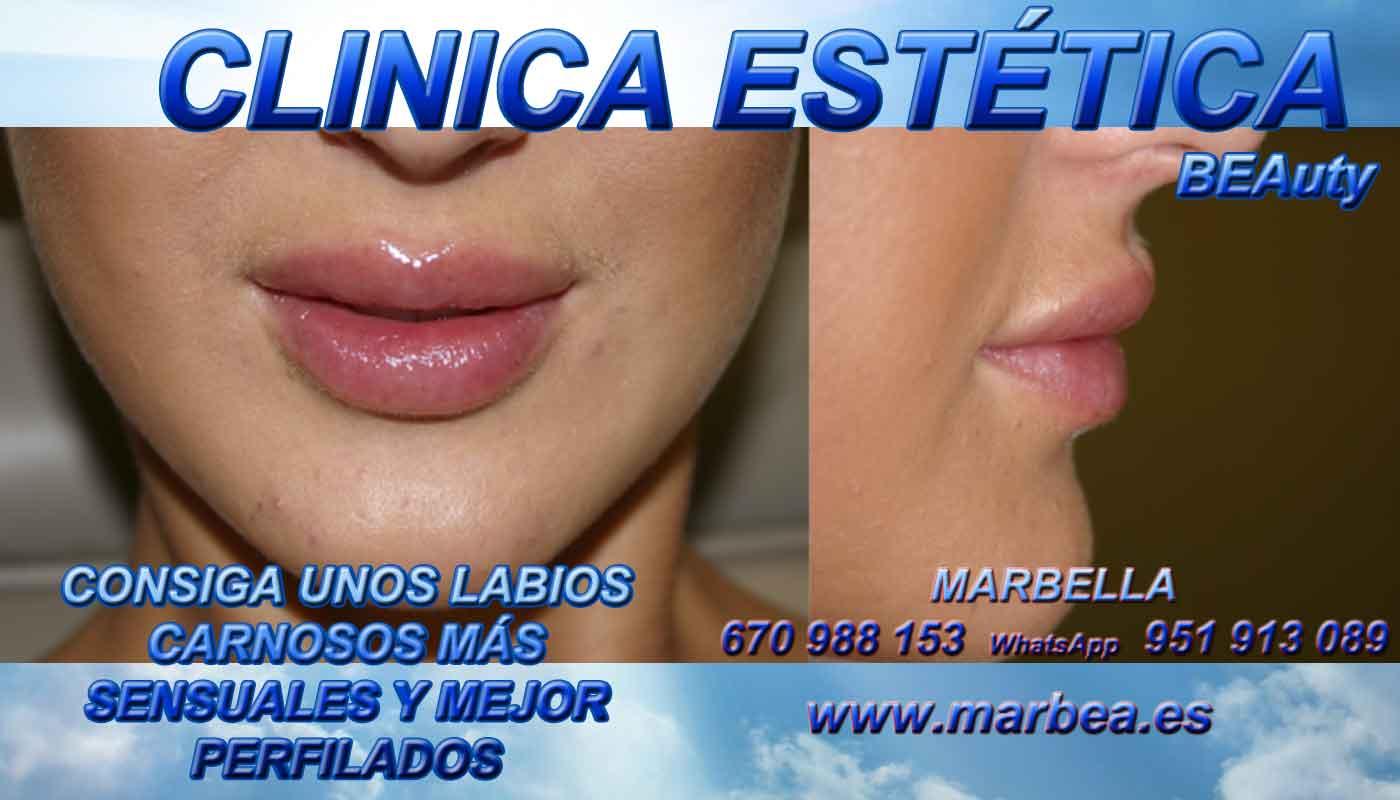 eliminar para quitar arrugas ojos sin cirugia aumento de labios Jaén