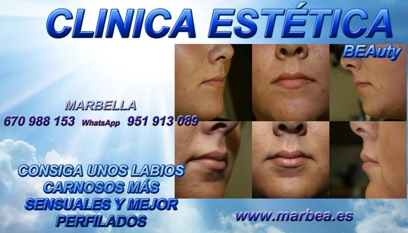 tratamiento para rejuvenecimiento facial hombre aumento de labios Marbella