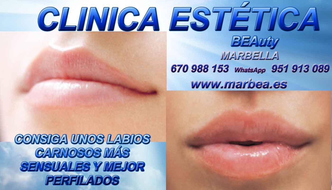 eliminar para quitar arrugas ojos sin cirugia aumento de labios Estepona