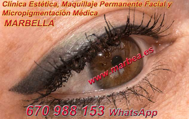 microblading ojos la Línea. en la clínica estetica propone micropigmentación Marbella ojos y maquillaje permanente
