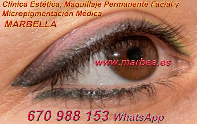 microblading ojos la Línea. en la clínica estetica ofrenda micropigmentación Marbella ojos y maquillaje permanente