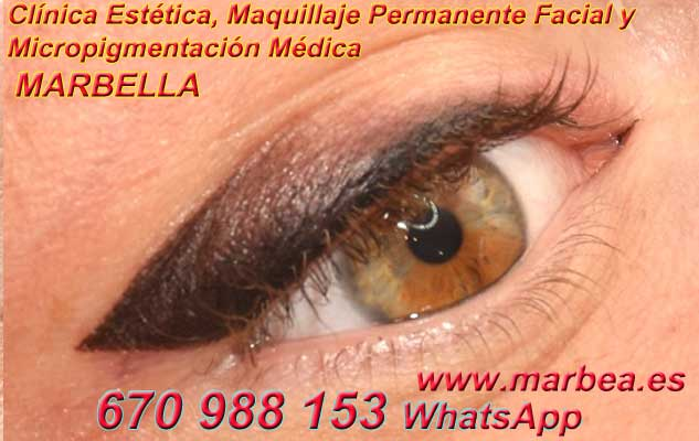 microblading ojos Frontera. en la clínica estetica ofrenda micropigmentación Marbella ojos y maquillaje permanente