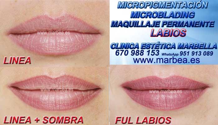 MAQUILLAJE PERMANENTE LABIOS MARBELLA CLINICA ESTÉTICA ofrenda Pigmentacion labios 3D Marbella y Marbella