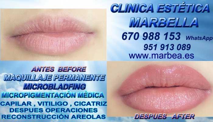 MAQUILLAJE PERMANENTE LABIOS MARBELLA CLINICA ESTÉTICA ofrece Dermopigmentacion labios 3D en Marbella y en Marbella