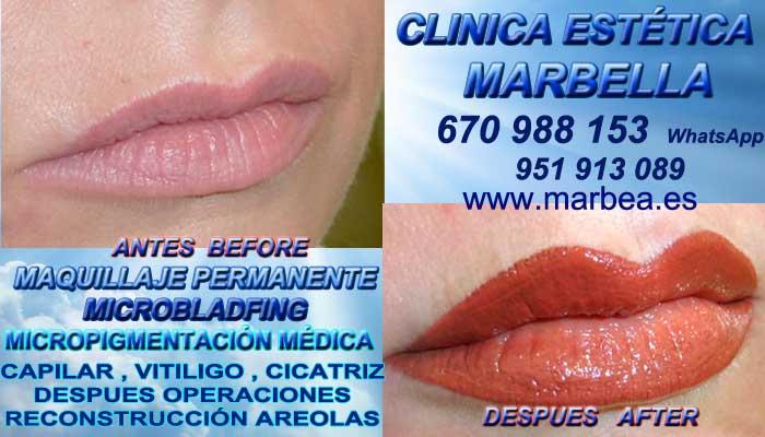 MAQUILLAJE PERMANENTE LABIOS MARBELLA CLINICA ESTÉTICA propone Microblading bocas en Marbella y en Marbella