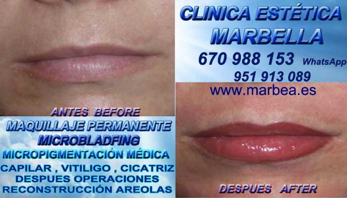 MAQUILLAJE PERMANENTE LABIOS MARBELLA CLINICA ESTÉTICA entrega Microblading labios 3D Marbella y en Marbella