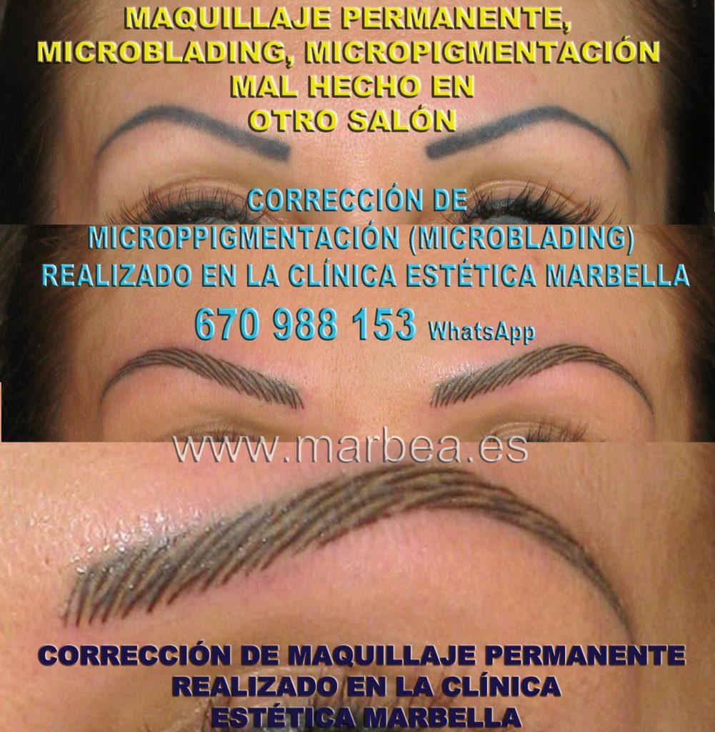aclarar la microblading cejas Clinica Estética Marbella siempre con el mejor equipo de MICROPIGMENTACIÓN , microblading y maquillaje permanete Marbaella