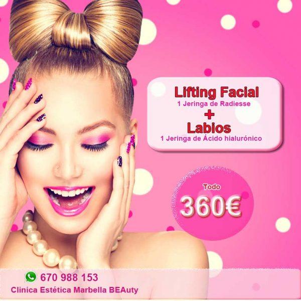 LIFTING FACIAL y RELLENO de LABIOS Marbella La mejor clinica para labios marbella